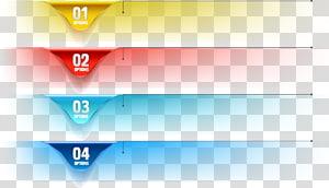 No. geométrico, gráfico de opções em quatro camadas PNG clipart