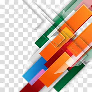 Design gráfico de forma de cor, fundo colorido tecnologia, decoração abstrata laranja, verde, azul, rosa e vermelho PNG clipart