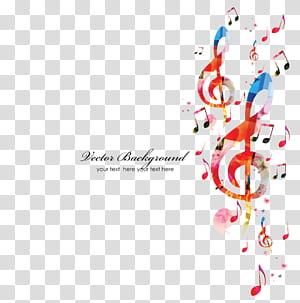 Nota musical, fundo de notas musicais, fundo de notas musicais PNG clipart