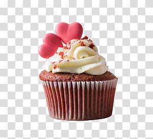 Cupcake com sotaque de coração, Bolo de aniversário Cupcake Petit Gâteau Muffin Bolo de chocolate, Cupcakes de chocolate png