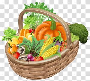 vários ilustração vegetal, cesta de frutas vegetais, cesta com legumes PNG clipart
