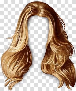 ilustração de peruca de cabelo castanho, peruca penteado integrações de cabelo artificial, cabelo longo de estilo ocidental para puxar s grátis PNG clipart