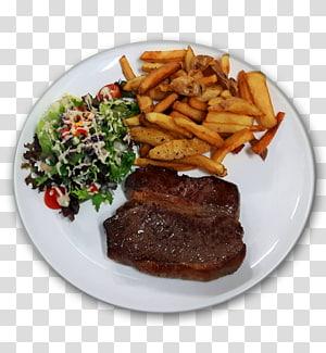 Batatas fritas Batatas fritas Costeletas Rosbife Steak au poivre, bife PNG clipart