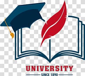 Logotipo da universidade, educação Logo Design gráfico Escola, livros de chapéu PNG clipart