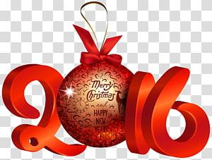 Véspera de Natal Natal e época natalícia Presente Yule, Vermelho 2016 Decoração, vermelho 2016 Feliz Natal ilustração 3D png