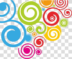 decoração multicolorida, cor, círculos coloridos PNG clipart
