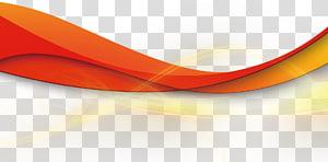 Fita geométrica linha luz, ilustração de linha ondulada vermelha png