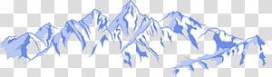 Ilustração euclidiana de montanha, iceberg PNG clipart