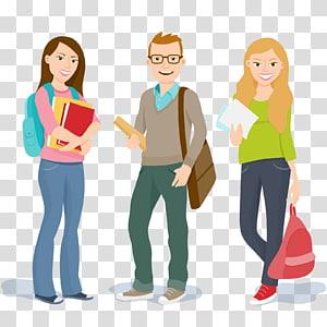 Student University College Education, estudantes universitários, ilustração masculina de cabelos castanhos PNG clipart