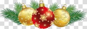 Decoração de Natal Enfeite de Natal Cartão de Natal, Decoração de Bolas de Natal, três bugigangas de Natal png