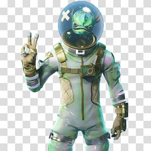 personagem alienígena branca e verde mostrando a ilustração do sinal de paz, jogo Fortnite Battle Royale Battle royale Leviathan Epic Games, skin Fortnite png