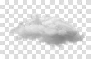 Nuvem branca, nuvem, nuvens brancas com fundo preto PNG clipart