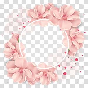 Grinalda de casamento flor, decoração cereja, rosa floral ilustração PNG clipart