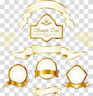 Rótulo de ouro euclidiano, rótulo de moldura de ouro Vintage, s sortidas png