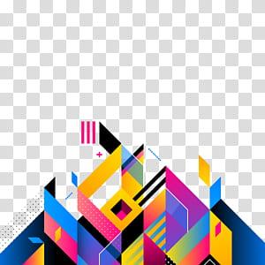 Arte abstrata Ilustração, fundo abstrato, arte azul e multicolorida PNG clipart