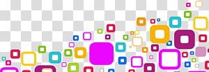 Praça multicolorida, Geometria Design gráfico Abstração, Quadrados geométricos abstratos coloridos PNG clipart