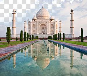 Taj Mahal em Agra, Índia durante o dia panorâmico, Taj Mahal Jaipur Elephanta Caves Golden Triangle, Taj Mahal, India PNG clipart