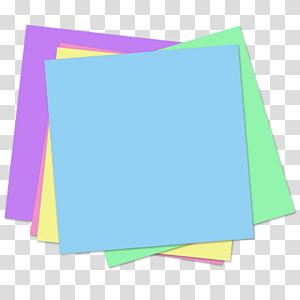 ilustração de papel multicolorido, nota de post-it notas de área de trabalho notas de papel maçã de papel, notas auto-adesivas PNG clipart