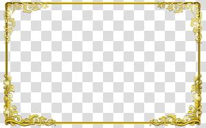 Moldura de ouro, borda dourada s, moldura floral amarela PNG clipart