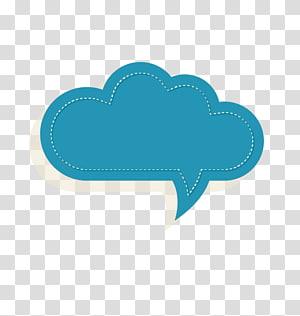 ilustração de nuvem branca e azul, caixa de texto de papel, caixa de texto png