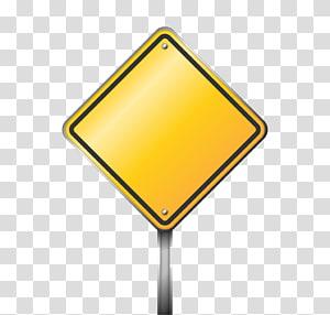 Sinal de trânsito Sinal de aviso ícone, sinais de trânsito amarelo em branco, ilustração de sinalização amarelo png