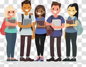ilustração, de, pessoas, segurando, livros, estudante grupo, estudante, sociedade, estudante PNG clipart