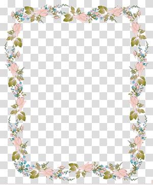 Convite de casamento, convite de design de borda de flores, ilustração de moldura floral rosa PNG clipart