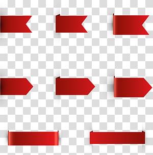 fitas vermelhas sortidas, fita, fitas decorativas de canto PNG clipart