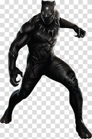 Marvel pantera negra ilustração, pantera negra capitão américa traje cosplay super-herói, arquivo pantera negra PNG clipart