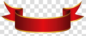 Banner Ribbon Paper, Red Banner, logotipo de fita vermelha e laranja png
