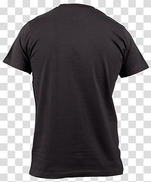backview de camiseta preta, camiseta decote manga jersey, camiseta preta PNG clipart