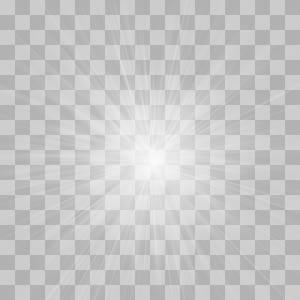 Padrão de simetria em preto e branco, efeito de luz brilhante, luz LED PNG clipart