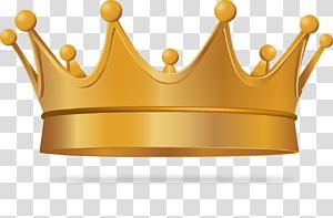 ilustração de coroa de ouro, coroa rei euclidiano, coroa requintada PNG clipart