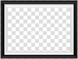 Moldura quadrada da área Teste padrão preto e branco, quadro branco preto da beira, quadro phootr digital PNG clipart