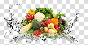 bando de ilustração de vegetais, café da manhã de alimentos saudáveis de suco, fundo de vegetal PNG clipart