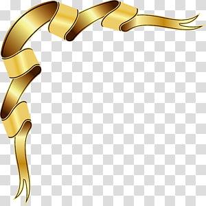 ilustração de fita marrom, caixa de texto, design de fita de ouro png