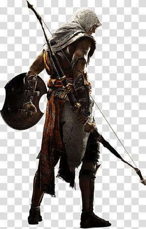 Assassin's Creed segurando arco e escudo, Assassin's Creed: Origins Assassin's Creed: Brotherhood Vídeo game PlayStation 4, Assassins Creed PNG clipart