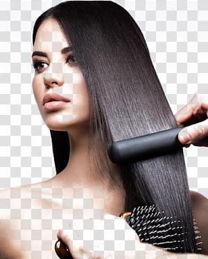 batom rosa das mulheres, ferro de cabelo alisamento de salão de beleza cuidados com os cabelos, beleza do cabelo bonito PNG clipart
