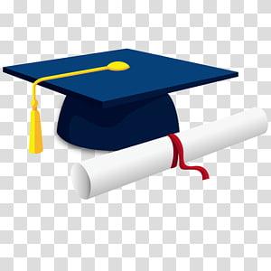 boné azul acadêmico, cerimônia de formatura boné quadrado acadêmico Diploma grau acadêmico bacharelado, boné graduação PNG clipart