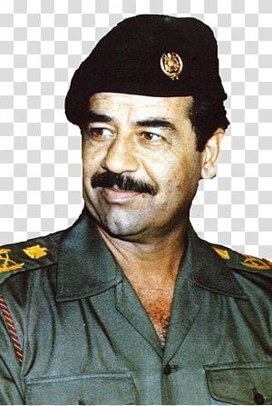 homem de uniforme oficial, Saddam Hussein Guerra do Iraque Estados Unidos Presidente do Iraque, Iraque png