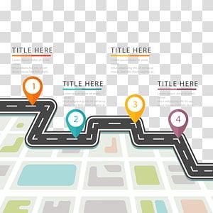 ilustração da estrada, roteiro da tecnologia Mapa da estrada, cor Localização da estrada PNG clipart
