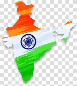 Bandeira da Índia Movimento de independência indiana Dia da independência indiana, mapa da Índia com Falun indiano PNG clipart