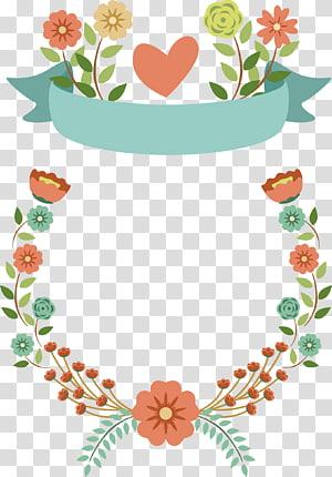 ilustração de flores, material de grinalda PNG clipart