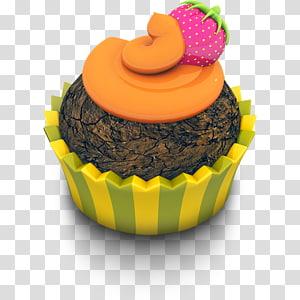 ilustração de cupcake, cozimento cup sobremesa cupcake alimentos muffin, Cupcake de chocolate laranja png