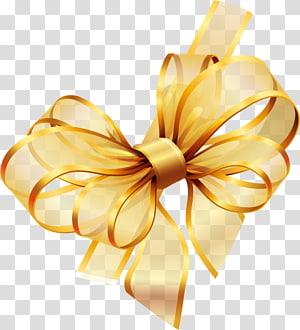 Ouro, fita, ilustração de fita amarela png