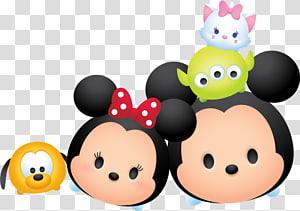 mickey & minnie mouse ilustração, minnie mouse disney tsum tsum mickey mouse donald pato pateta, aviso de férias PNG clipart