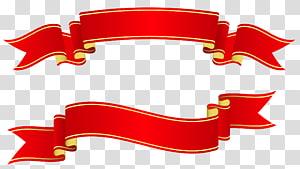 Faixa de papel fita, faixas vermelhas, ilustração de fita vermelha dois png