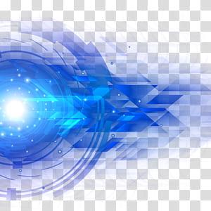 Azul claro, ciência e tecnologia efeito de luz azul, azul abstrato PNG clipart