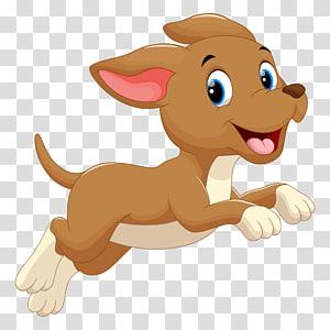ilustração de cachorro marrom, cachorro filhote de cachorro dos desenhos animados, cachorro correndo png