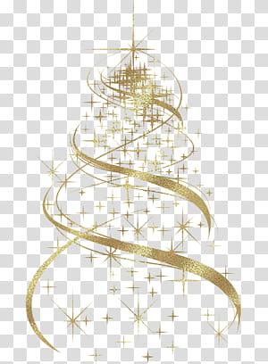 Christmas tree Christmas decoration Gráficos escaláveis, decoração de árvore de Natal dourada, ilustração de estrelas amarelas PNG clipart